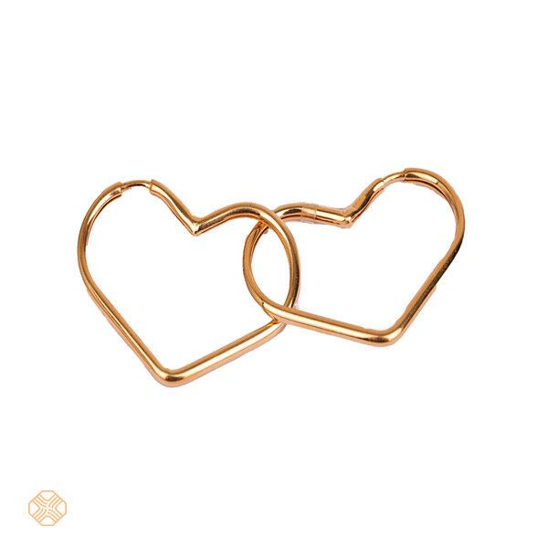 گوشواره حلقه ای قلبی