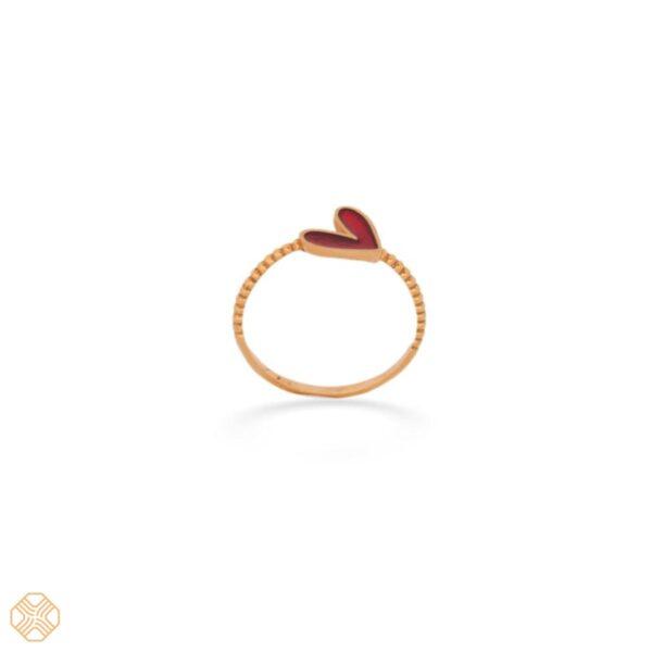 انگشتر قلب قرمز | گالری طلای نیازی