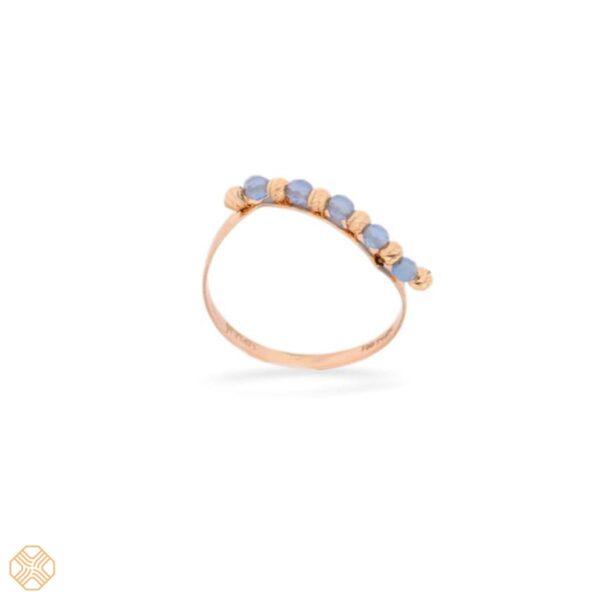 انگشتر گوی آبی | گالری طلا و جواهر نیازی