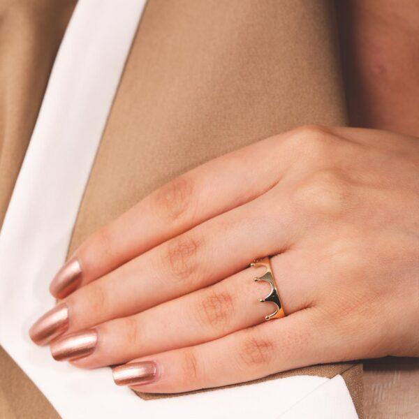 انگشتر تاج | گالری طلا و جواهر نیازی
