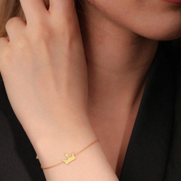 دستبند تاج | گالری طلای نیازی